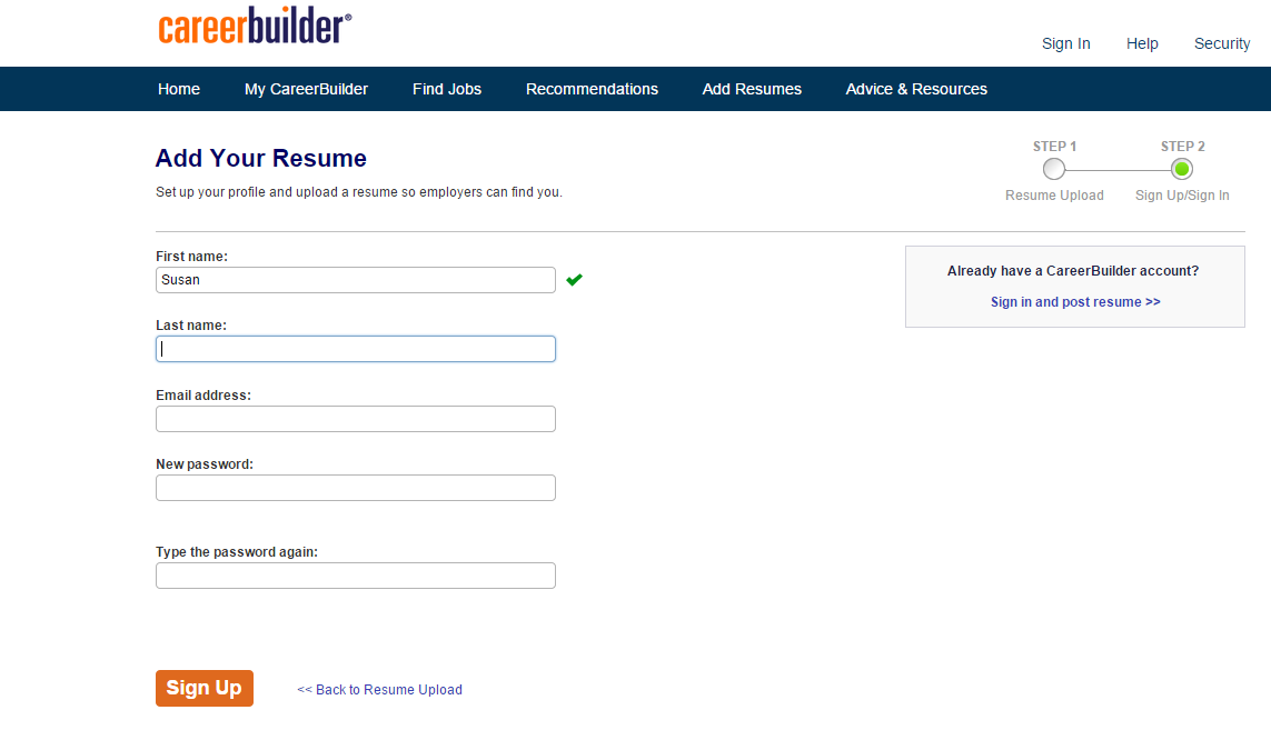 Careerbuilder Resume Search resume search forms editing job board software support resume kaliurang org resume builder resume cv cover leter edit following resume search forms Create Job Seeker Account For Registered Nurse Jobs